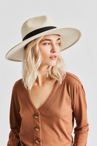 Brixton Joanna Hat - Dove Black