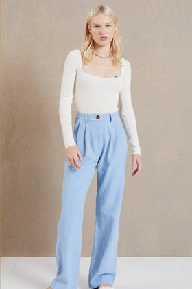 Bec & Bridge Harriet Pant - Dusk Blue