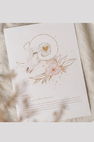 By Charlotte A4 Unframed Print - Aries