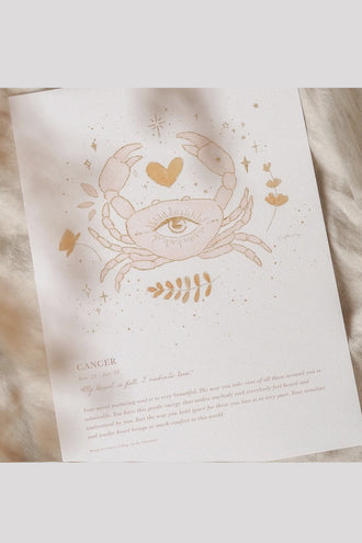 By Charlotte A4 Unframed Print - Cancer