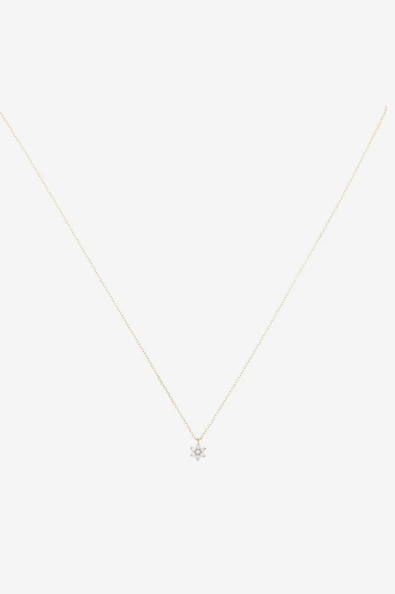 By Charlotte Crystal Lotus Flower Necklace - 14k Gold