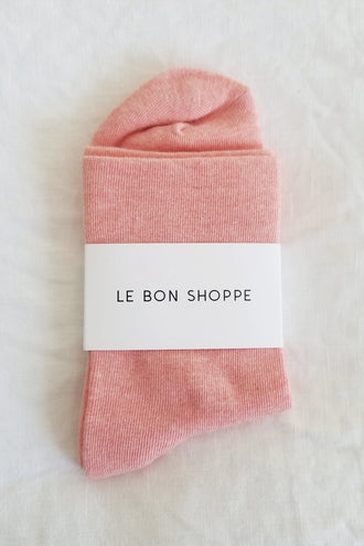 Le Bon Shoppe Sneaker Socks - Peach