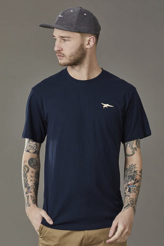 Just Another Fisherman Flying Fish Tee - Navy
