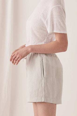 Assembly Ease Linen Short - Green Mist