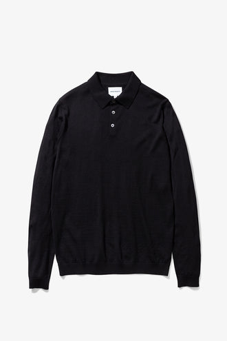 Norse Projects Johan Merino Polo - Black
