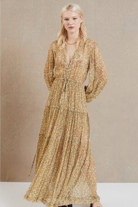 Bec & Bridge Golden Fields L/S Maxi Dress - Print