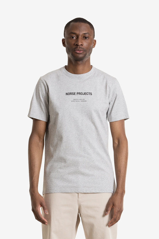 Norse Projects Niels Norse Logo - Light Grey Melange