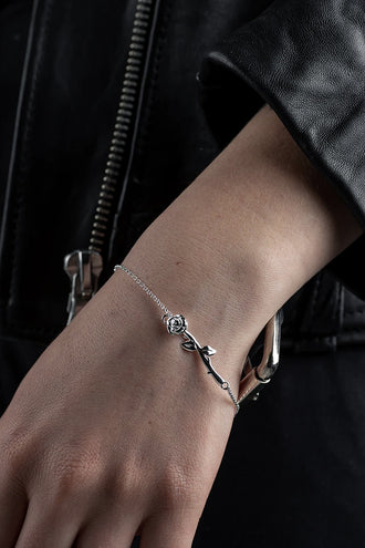 Stolen Girlfriends Club Rose Bar Bracelet -  Silver