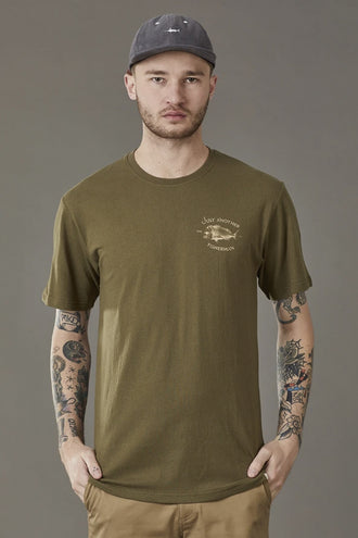 Just Another Fisherman Snapper Logo Tee - Olive