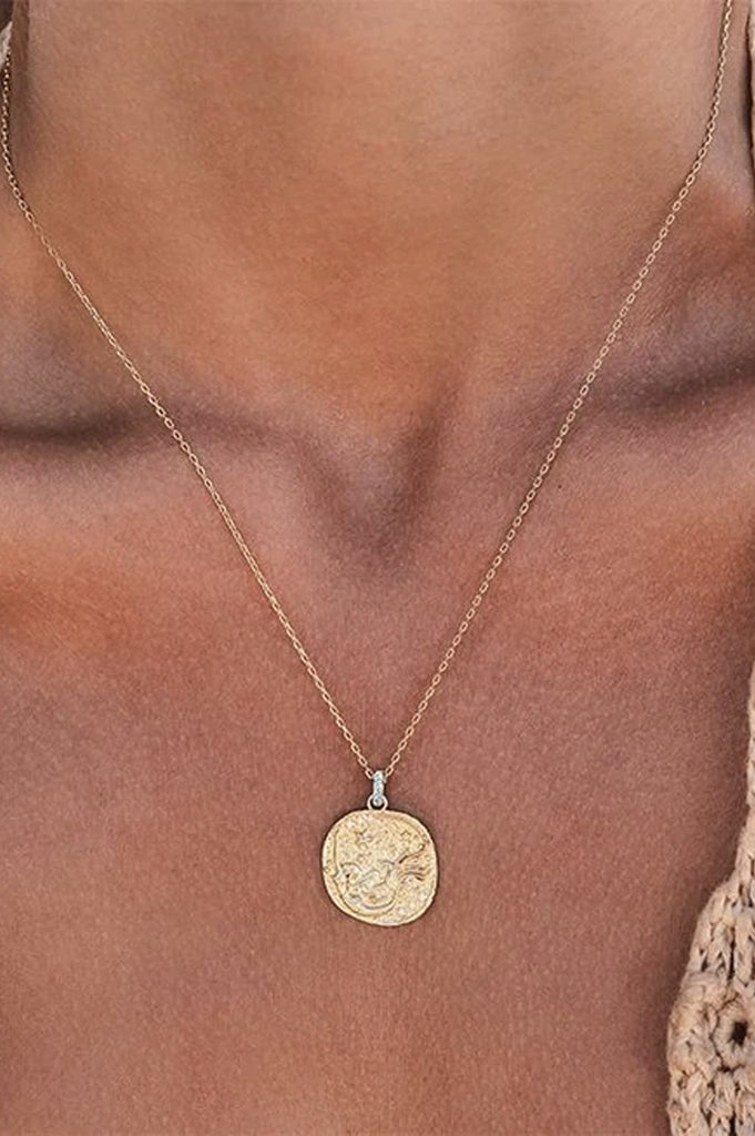 By Charlotte Goddess Of Water Necklace - Gold
