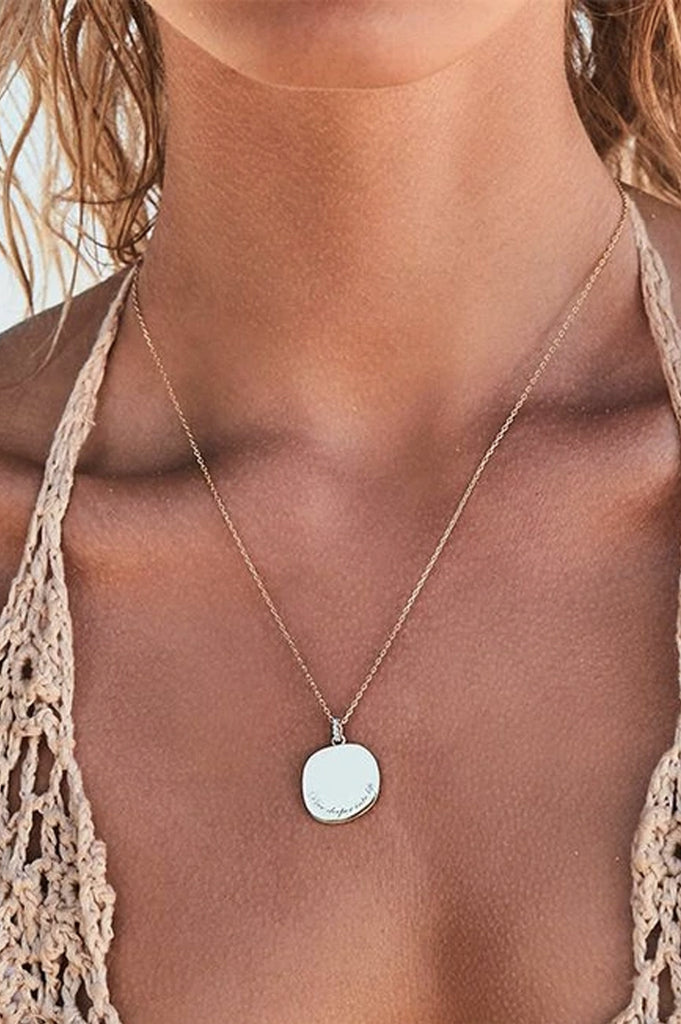 By Charlotte Goddess Of Water Necklace - Silver