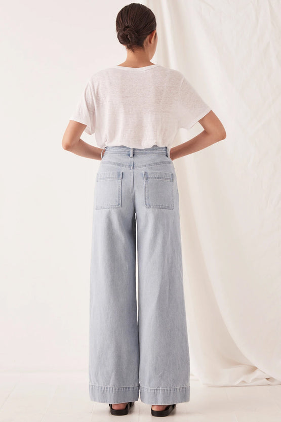 Assembly Wide Leg Jean -  Pacific Blue