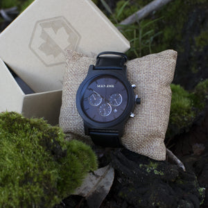 Midnight Chronograph | 43mm Wood Watch