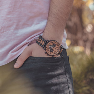 Lux Chronograph | 44mm Wood Watch