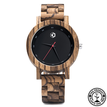 Load image into Gallery viewer, Personalized Wooden Watch made from Zebrawood