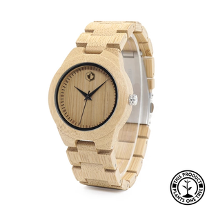 Personalized Wooden Watch made from natural bamboo