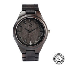 Load image into Gallery viewer, Personalized Wooden Watch made from natural ebony wood