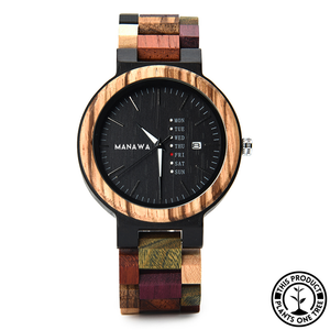 Personalized Wooden Watch made from multiple woods