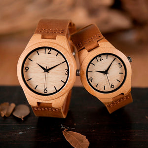 Personalized Wooden Watch made from natural bamboo, different sizes