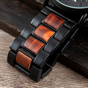 North Viking | 42mm Wood and Steel Watch