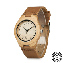 Load image into Gallery viewer, Personalized Wooden Watch made from natural bamboo