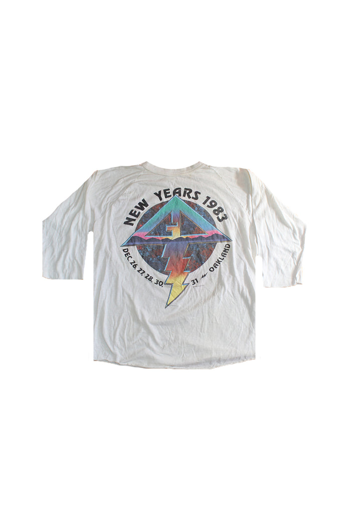80's new years oakland grateful dead vintage t shirt