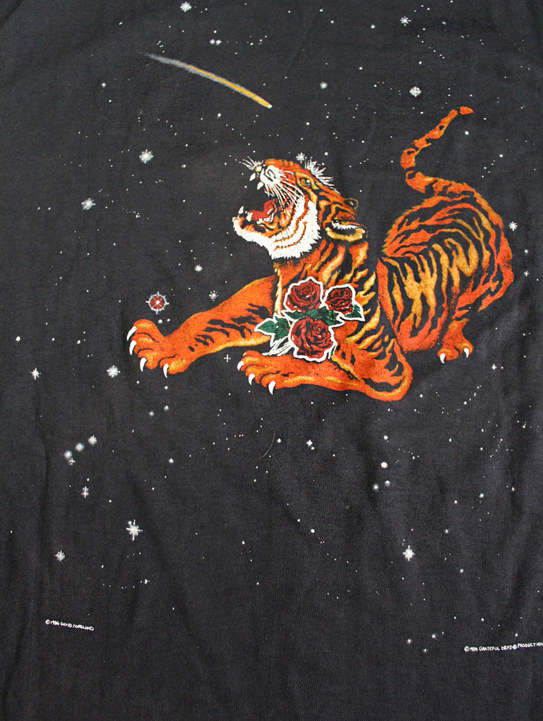 Vintage 1986 Grateful Dead Year of The Dragon Tiger T-Shirt