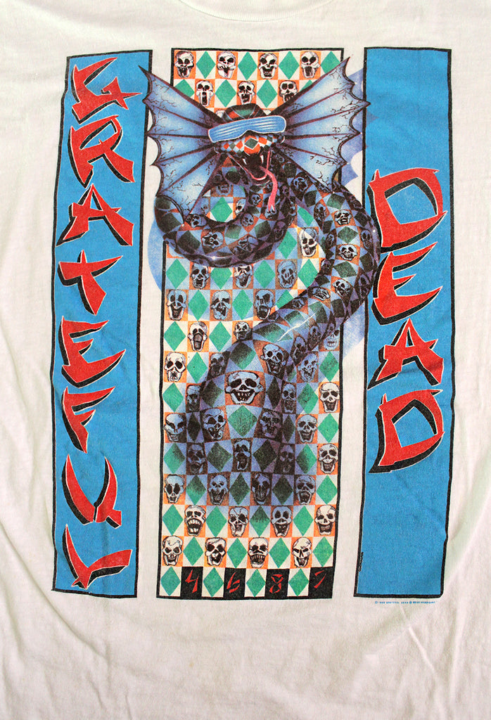 Vintage 1986 Neon Grateful Dead Year of The Dragon T-Shirt