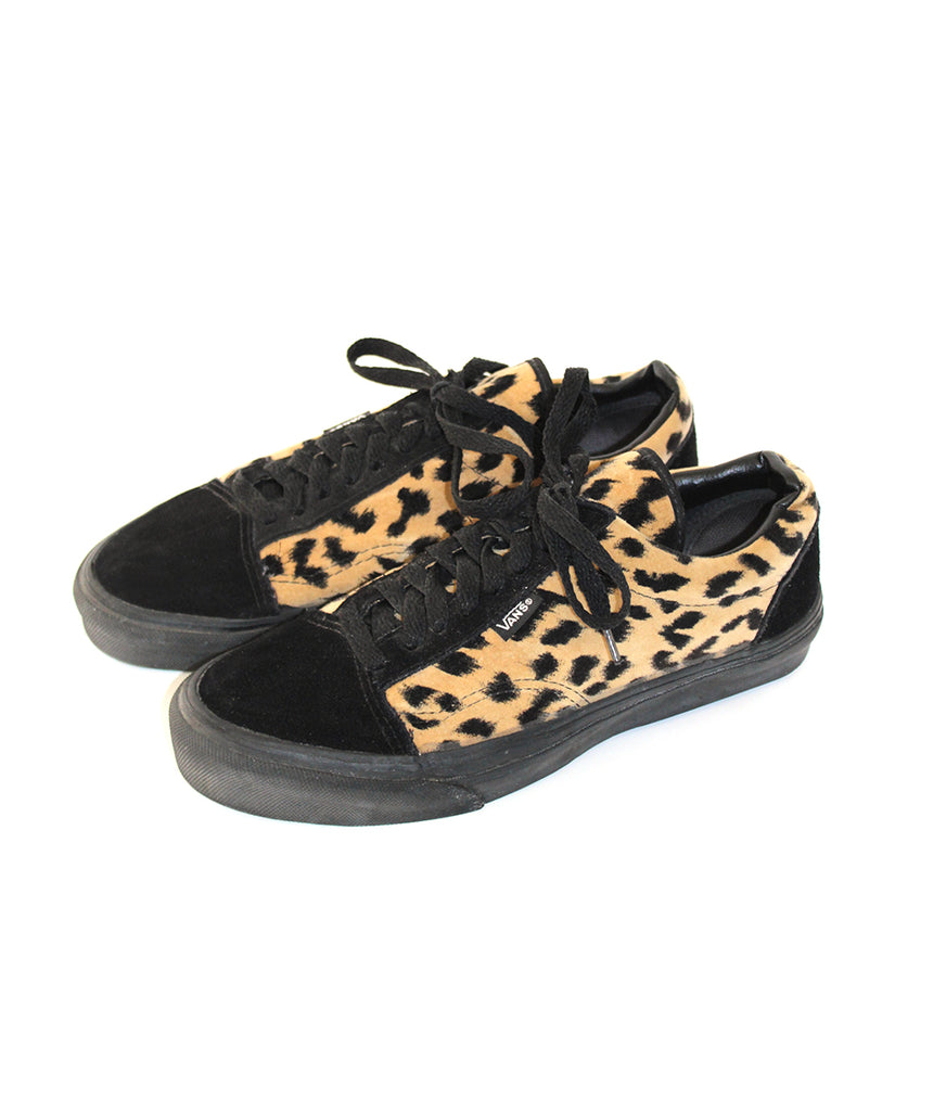 b7ea71d970ca Vintage Leopard Velvet and Suede Two Tone Vans Made in USA – Afterlife  Boutique