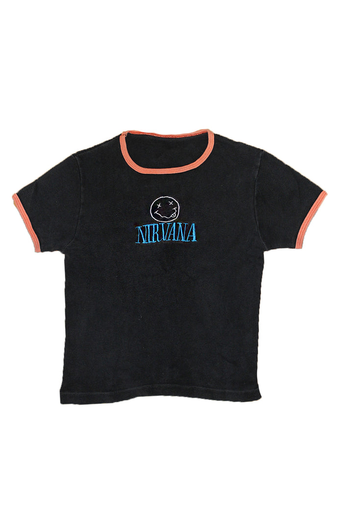 Vintage 90's Nirvana Crop T-shirt