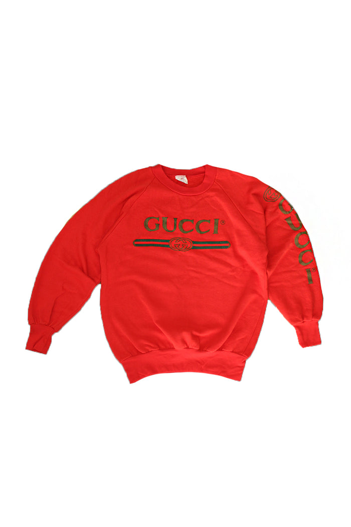3092813e895 Vintage 80 s 90 s Deadstock Original Bootleg GUCCI Sweatshirt – Afterlife  Boutique