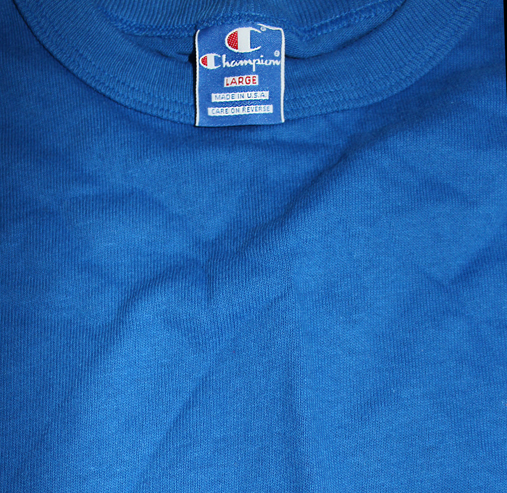 Vintage 90's Deadstock Champion Spellout Long Sleeve Royal Blue ///SOLD///
