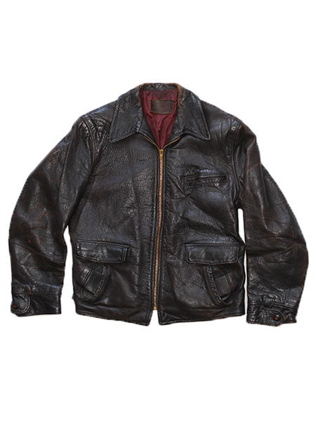 Hercules 1940's Horsehide Leather Jacket