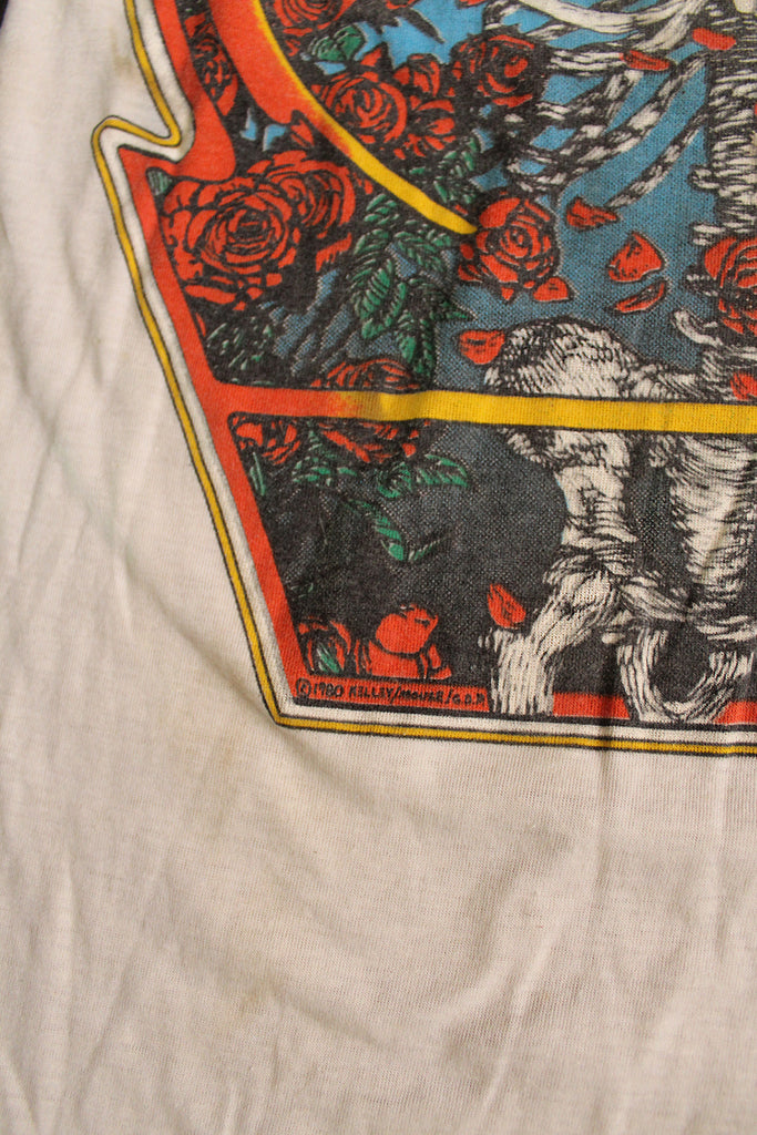 Vintage 80's Grateful Dead Kelley Mouse Ringer T-Shirt