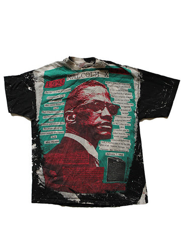 1990's Mosquito Head Malcolm X Vintage T-Shirt Rare