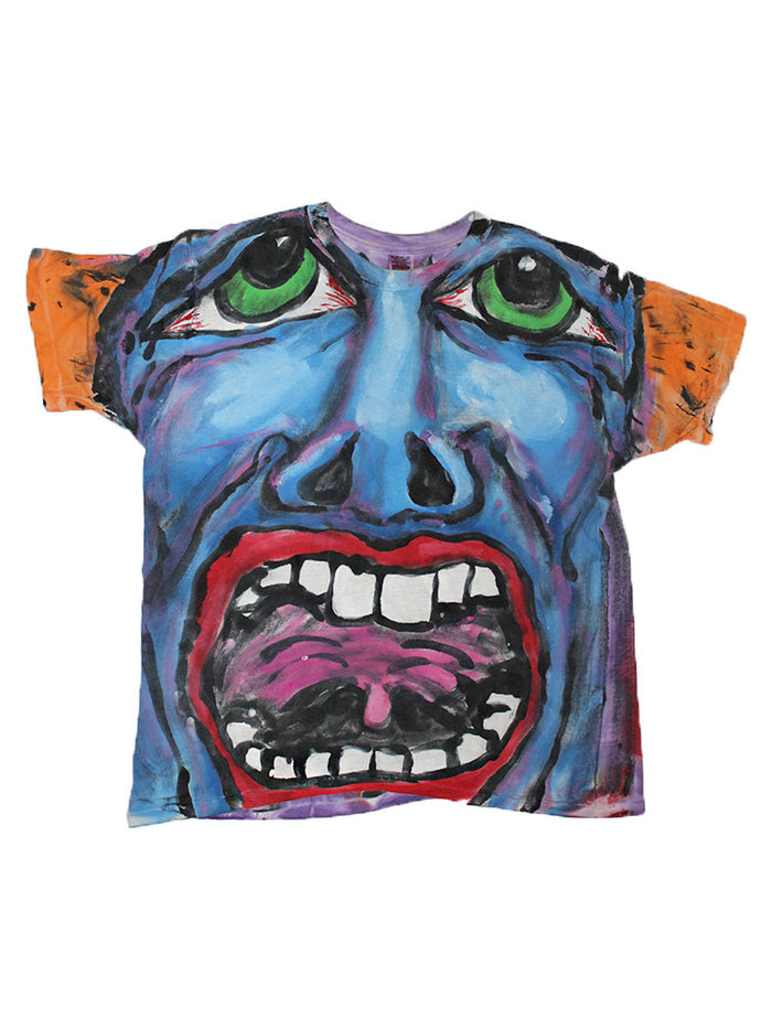 Vintage 90's King Crimson Inspired All Over Hand-painted Shirt
