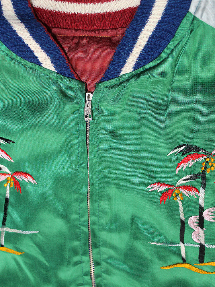 Vintage 50's Deadstock Japan Souvenir Satin Jacket Atomic Bomb Rare ///SOLD///