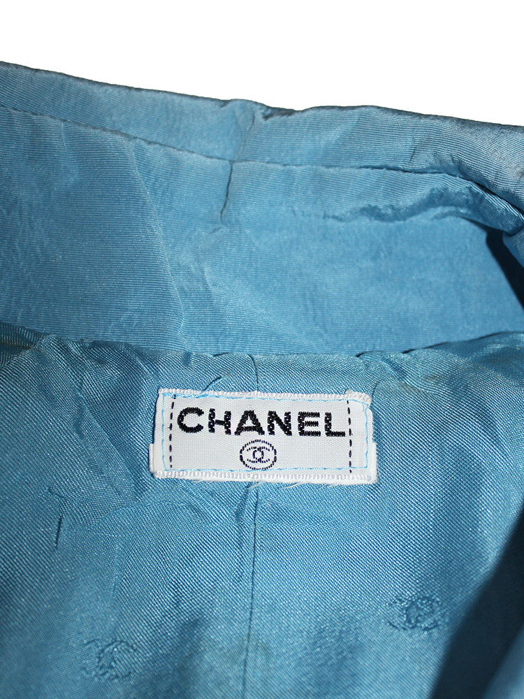 Vintage CHANEL 100% Silk Trench Coat