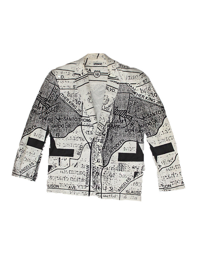 Vintage 80's Stephen Sprouse All over Print South Central LA Jacket