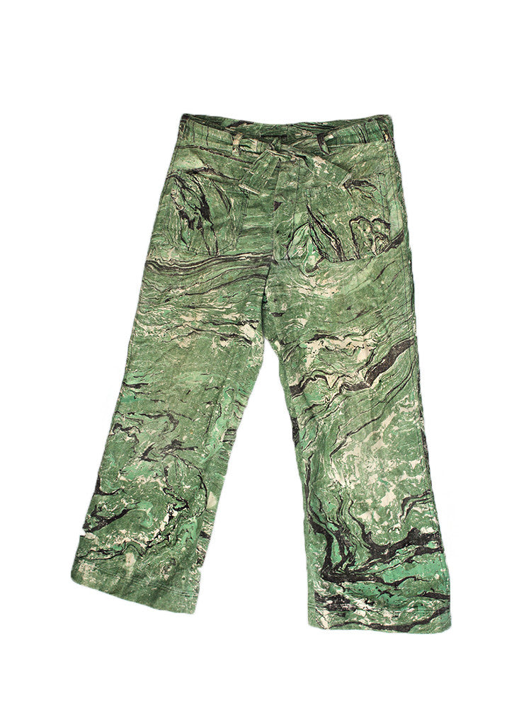 Vintage Marbled Paint Pants