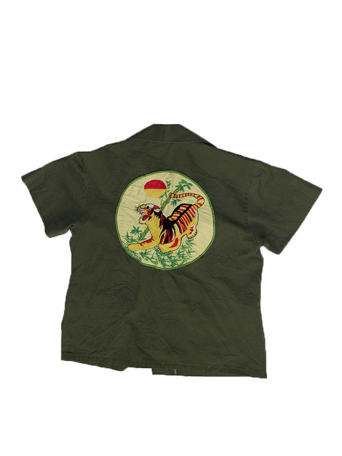 Vintage 60's Vietnam Slant Pocket Tiger Army Shirt