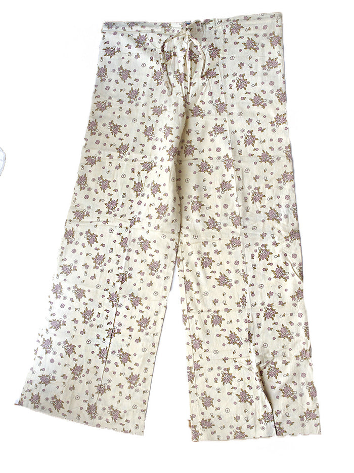 Vintage Deadstock 1970's India Cotton Yoga Lounge Pants