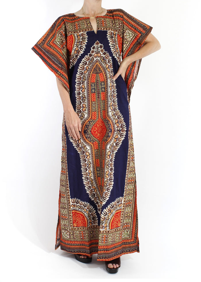 VINTAGE 70'S DEADSTOCK KAFTAN DASHIKI DRESS