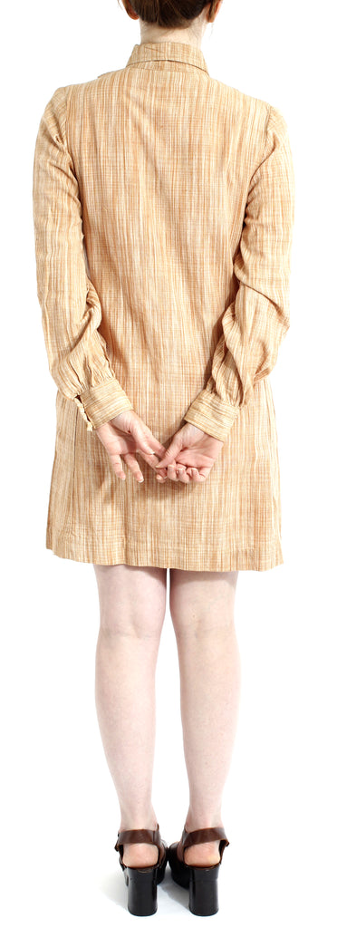 VINTAGE 70'S DEADSTOCK INDIA COTTON CINNAMON DRESS