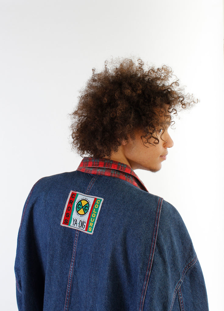 vintage cross colors jacket