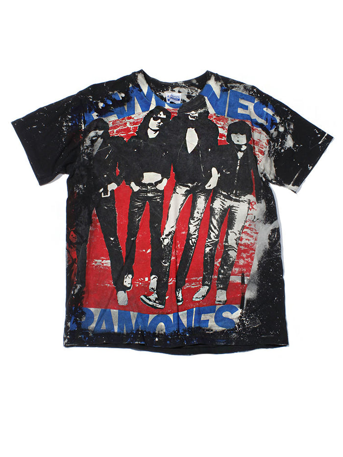 Ramones Print All Over Vintage T-Shirt 1980's///SOLD///