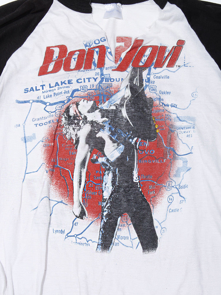 Bon Jovi Salt City Tour Vintage T-Shirt 1987