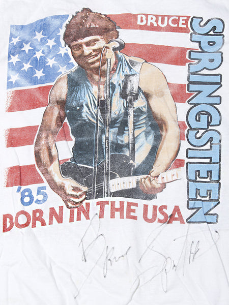 Bruce Springsteen AUTOGRAPH Born In The USA Vintage T-Shirt 1985