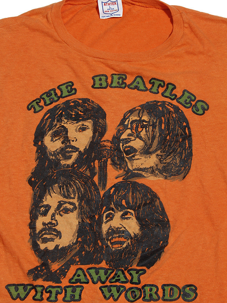 The Beatles Vintage T-shirt- Away With Words Mid 1970's ///SOLD///