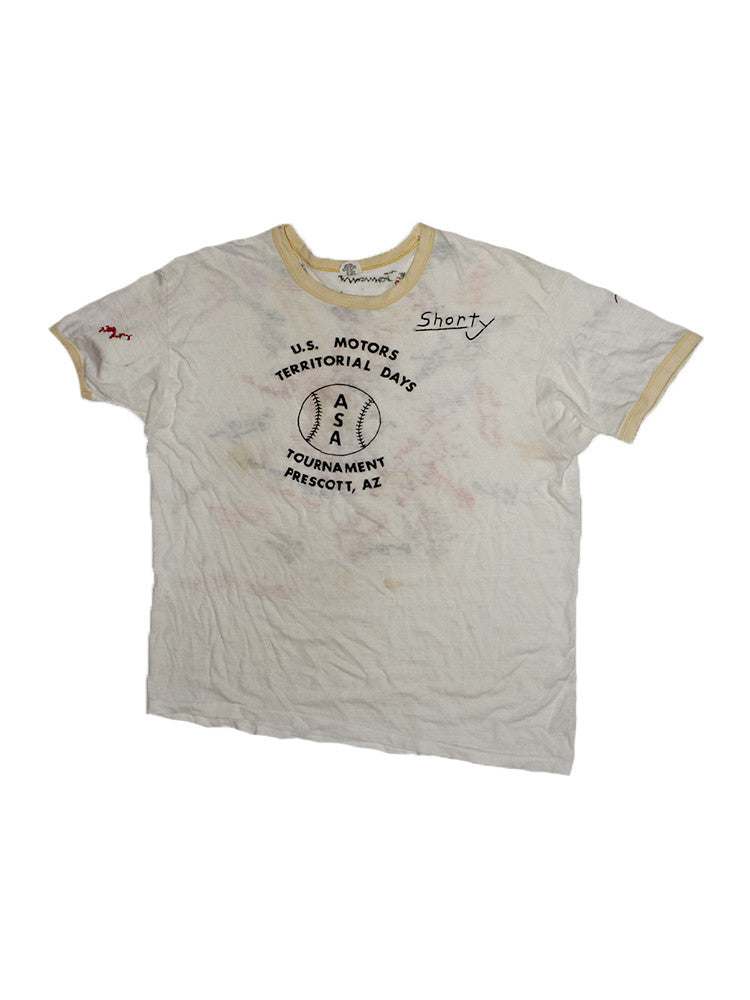 Vintage 70's Team Hand Embroidered T-shirt